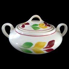 Blue Ridge Southern Potteries Cream Pitcher & Sugar Bowl **Antique Leaf Pattern