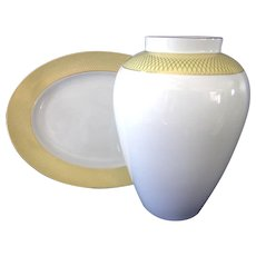 Rosenthal Gold **Siam Pattern** Vase and Serving Platter