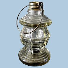Early Glass Lantern Candy Container made by Victory Glass Company