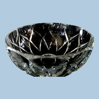 Val St. Lamberts 8 1/2 Inch Crystal Bowl