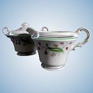 Syracuse China Coralbel Creamer and Sugar Bowl