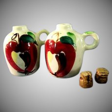 Purinton Pottery Apple Salt & Pepper Shakers
