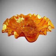 Stunning Carnival Glass Bowl by Millersburg in Blackberry Wreath  Pattern