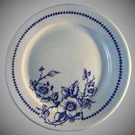 Set of Five Buffalo Pottery Dinner Plates Pattern Lune 612