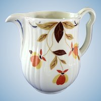 Autumn Leaf Cream Pitcher  Hall Jewel Tea