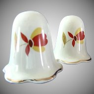 Autumn Leaf Salt & Pepper Shakers Ruffled Bottom