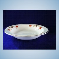 Set of Two Autumn Leaf Fruit Bowls by Hall China Company