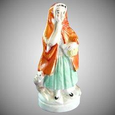 Original Staffordshire Little Red Riding Hood Figurine