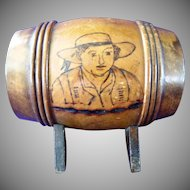 Old Mauchline Ware Still Bank   Signed by Artist