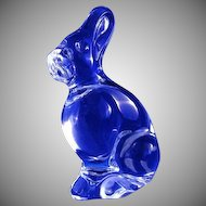 Baccarat Clear Crystal Glass Bunny Rabbit **Ears Up