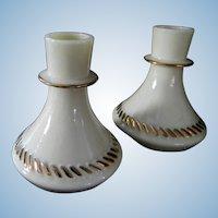 Wheaton Glass Company  Custard Glass Candle Holders