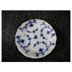 Unusual Flow Blue Butter Pat by J & G Meakin England