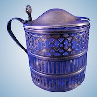 Webster Sterling Silver Mustard Jar or Pot