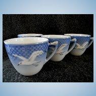 Set of 4 Bing & Grondahl Seagull Coffee Cups