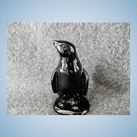 Vintage Boyd Art Glass Company Black Penguin