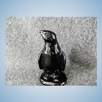 Vintage Boyd Art Glass Company Black Penguin