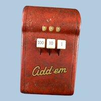 Vintage Tom Thumb Mechanical Adding Machine Toy
