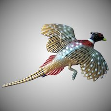 Beautiful Realistic Pheasant Brooch or Pin