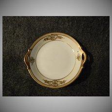 Set of Six Nippon Shamrock Pierced Handle Open Salts or Tea Plates