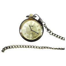 Pocket Watch w/  Quartz Movement
