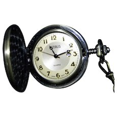 Hunter Case Pocket Watch Quartz Movement