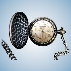 Remington Pocket Watch with Hunter Case and Quartz Movement