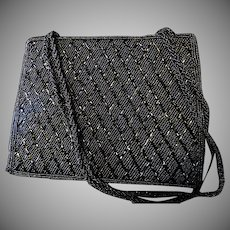 Black Valerie Stevens Beaded Purse