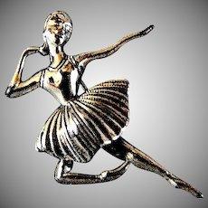 Lovely Ballerina Beaucraft Sterling Silver Pin