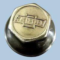 Chevrolet Hub Nut ** Chrome Plated Brass** Vintage