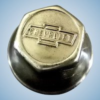 Chevrolet Hub Nut ** Chrome Plated Brass** Vintage