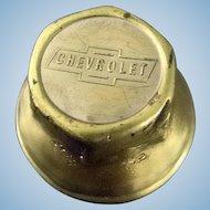 Vintage Brass Chevrolet Hub Nut