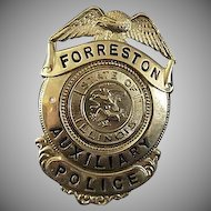 Original and Authentic Vintage Police Badge