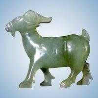 Hand Carved Jade Goat