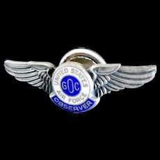 """Vintage 1950's Air Force Observer Pin from the """"Cold War"""""""