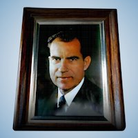 Framed Picture of Richard Nixon as Vice President