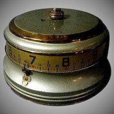 "Lux Rotary Mystery Desk Clock aka ""Tape Measure Clock"" Novelty Clock"