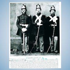 """Civil War Era Photographic Negative """"Amphibious Soldiers -1865"""""""