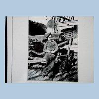 Civil War Era Negative Young Boy (Powder Monkey) on Battle Ship