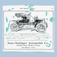 """Photo Negative for """" Ford Runabout"""" Advertisement"""