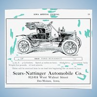 "Photo Negative for "" Ford Runabout"" Advertisement"