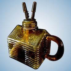 Log Cabin style Whale Oil Lamp with Double Burners