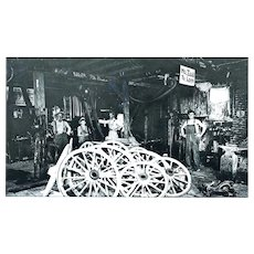 Photo Negative of Blacksmith Wheel Company
