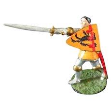 Worldart Knight Diecast Toy Medieval Knight with Helmet   **  Die Cast