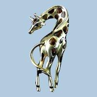 Marked Elegant Giraffe Pin or Broach