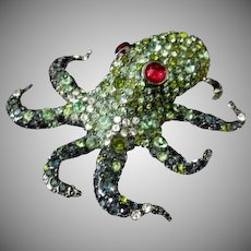 Kenneth J Lane Octopus Brooch * Broach * Pin