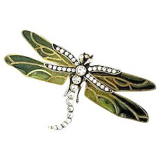 Kenneth J Lane Dragon Fly Brooch