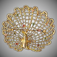 Lovely Peacock Broach ** Brooch**