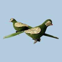 Pair of Vintage Bird Christmas Ornaments