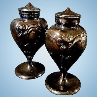 Very Nice Art Noveau Salt & Pepper Shakers by Jennings Bros.
