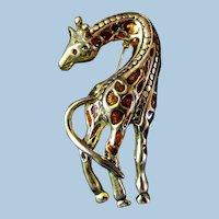 Pretty Giraffe Lapel Pin or Broach